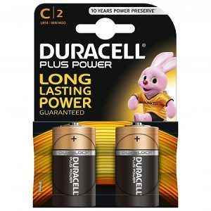 Duracell baterii 2 buc c- r14 improvedplus basic