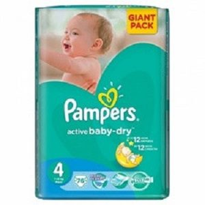 Pampers 4 act baby maxi gp(76) 7-14 kg