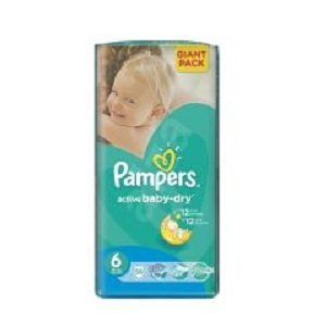 Pampers 6 act baby extra large gp(56) 15+ kg