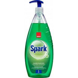 Sano detergent vase spark(pompa 1l+rezerv 500ml)castravete